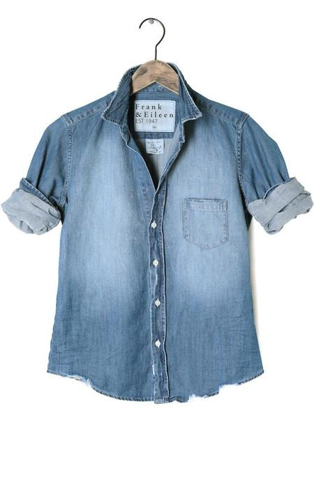 Frank & Eileen Barry Stonewashed Indigo Shirt - EXTRA DISTRESSED VINTAGE