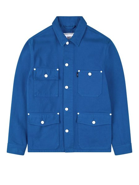 AMI Worker Denim Field Jacket - Blue