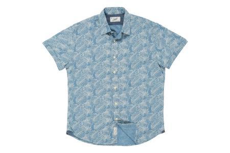 Grayers Summer Plain Weave Shirt - Leaf Print