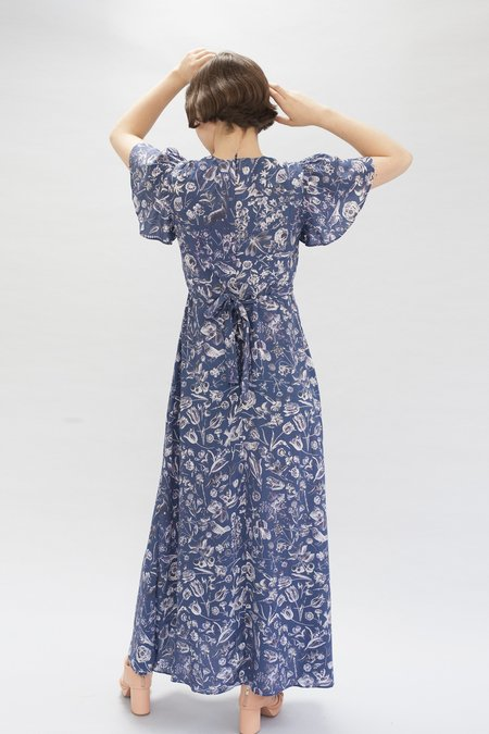 Samantha Pleet Gloriana Dress - Blueprint Floral