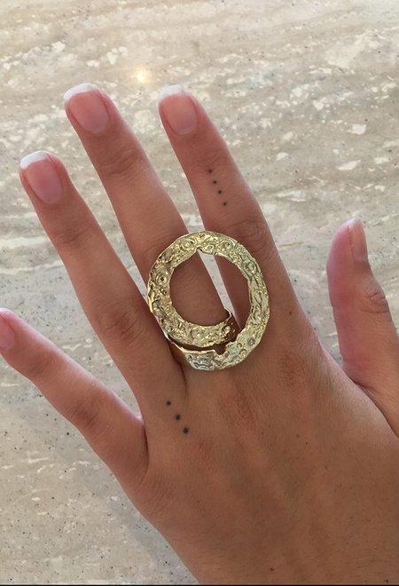 Wasson Fine Crater Wrap Cocktail Ring
