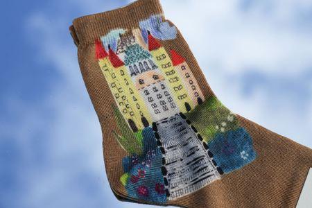 Maria La Rosa Castle Silk Short Sock - Nude
