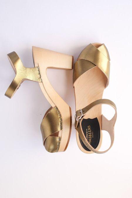 Swedish Hasbeens Merci Sandal - Gold