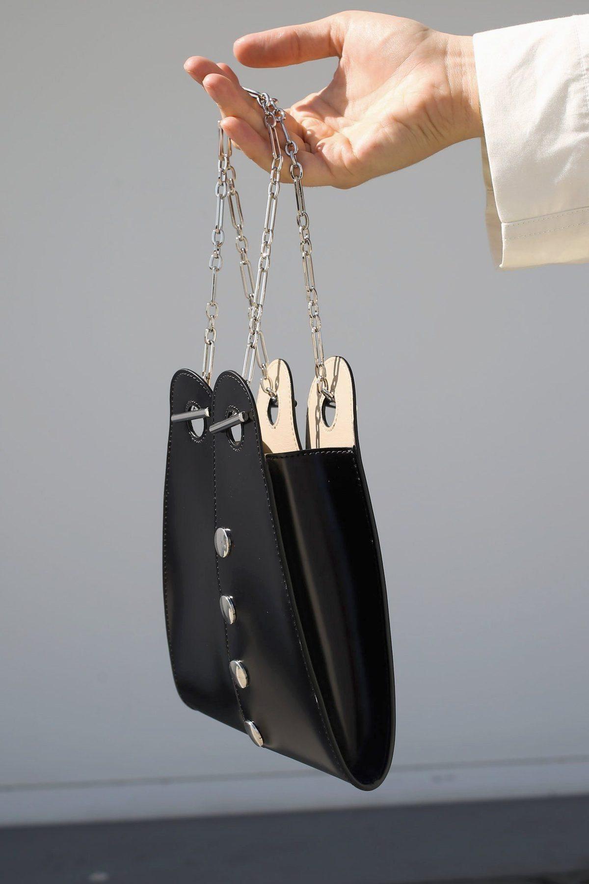 53cc31baa92 Mini Double Folded Bag, Black on Garmentory