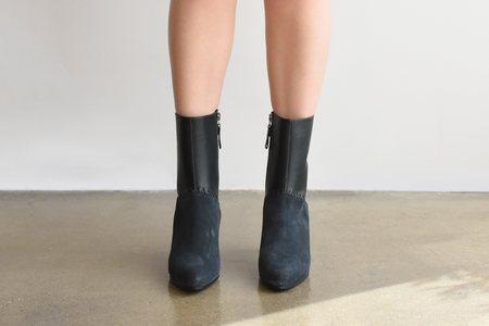Carritz Mona Saddle Stitch Boot - Slate Grey/Anthracite