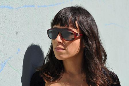 Linda Farrow + Ann Demeulemeester Oval Flat Top Sunglasses - Bordeaux