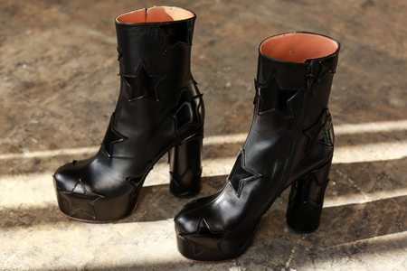 Vetements Platform Boot with Stars - Black/Black