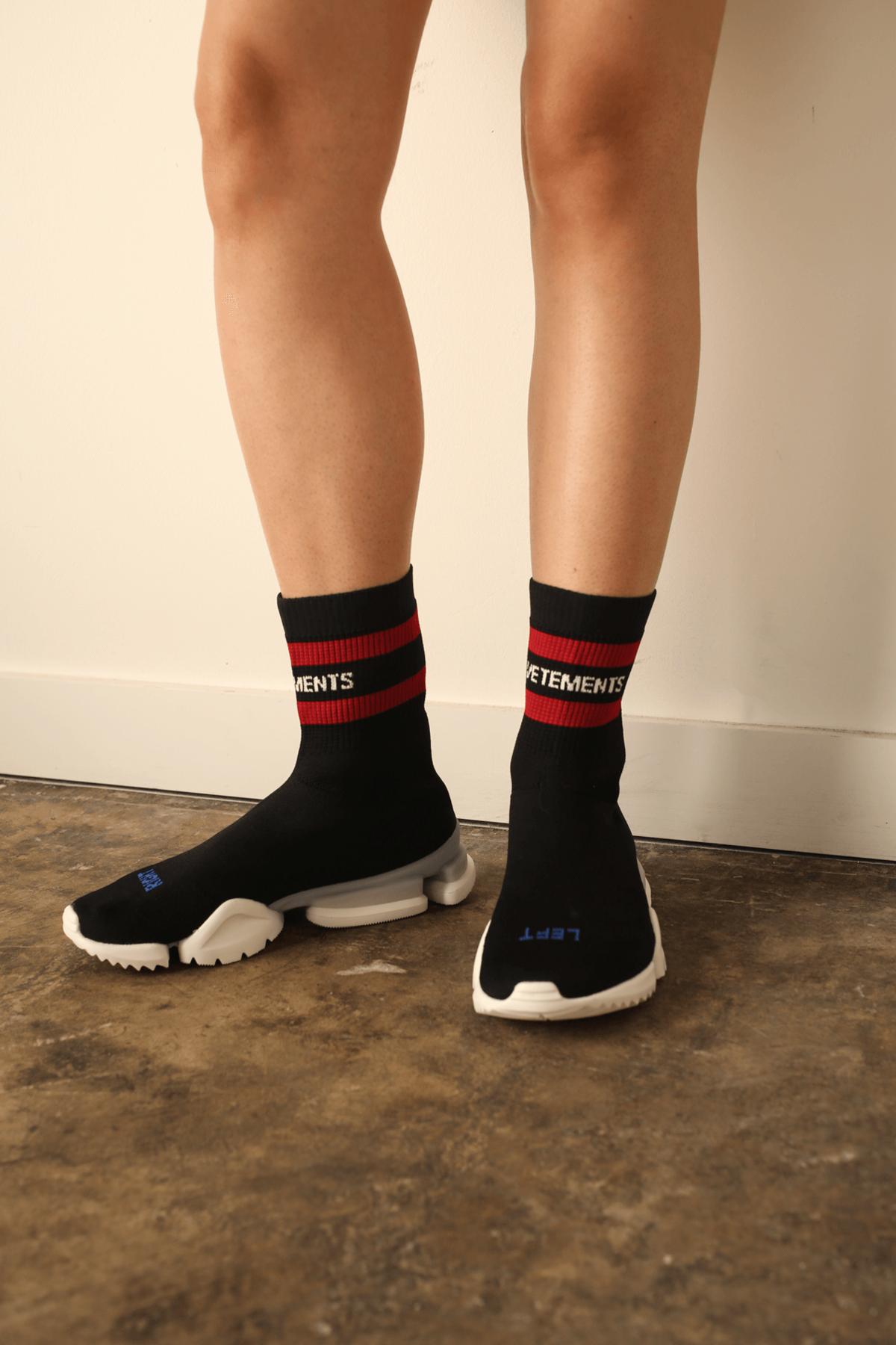 Vetements Reebok Sock Pump - Black