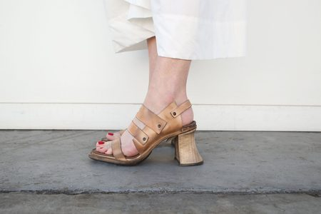 Cherevichkiotvichki Riveted High Heel Sandal - Natural
