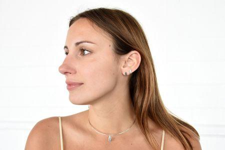 Ideal Woman Rosa Earring - White Gold/Black Diamond