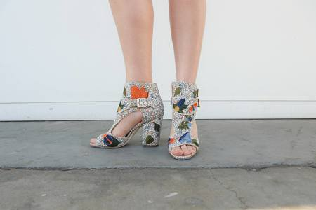 Laurence Dacade Rush Bagatelle Embroidery Heel - Floral Print