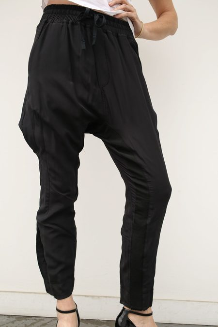 Haider Ackermann Silk Jogging Pants - Anatase Black