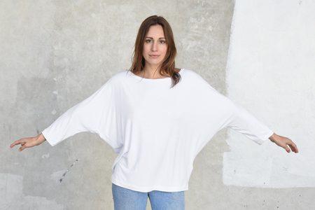 Tomas Maier Sporty Viscose Jersey T-Shirt - Chalk