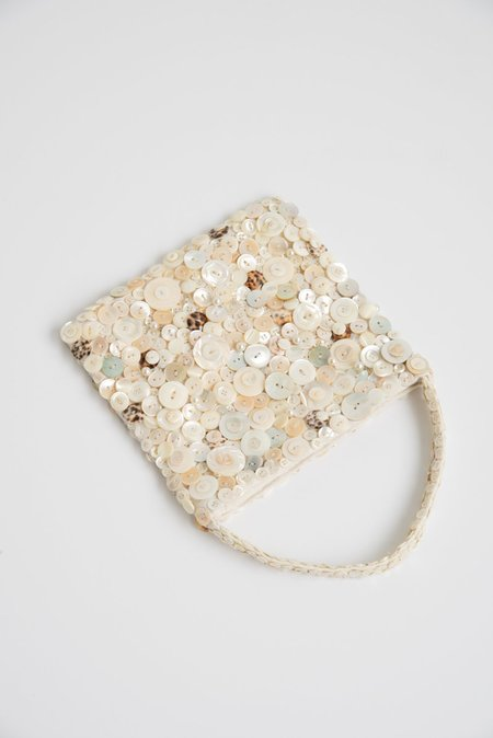 Intensity Large Beaded Bag - Mother of Pearl