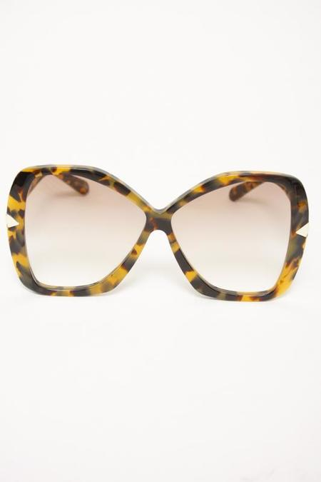 KAREN WALKER MARY CRAZY TORT SUNGLASSES