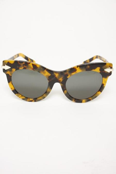 KAREN WALKER MISS LARK TORT SUNGLASSES