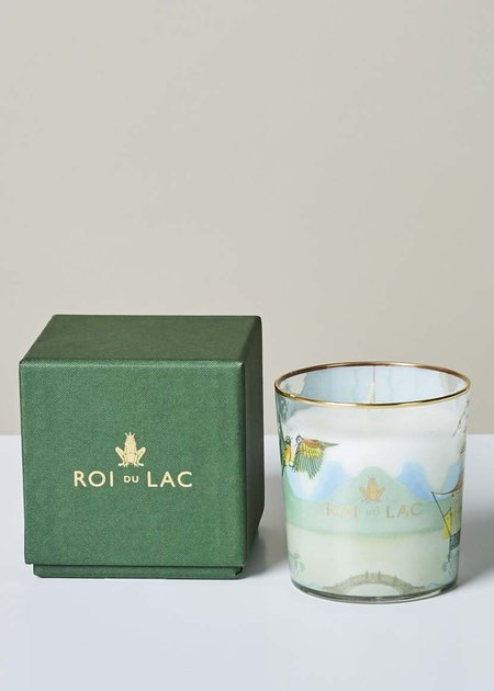 Roi du Lac Sandalwood and Bergamot Fragrance Glass Candle