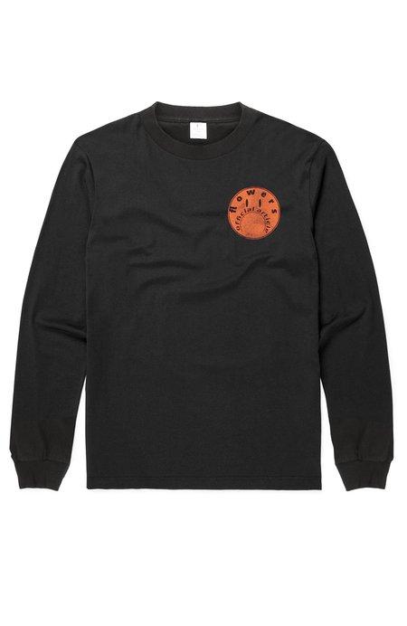 FLOWERS Distressed Long Sleeve T-Shirt - Black