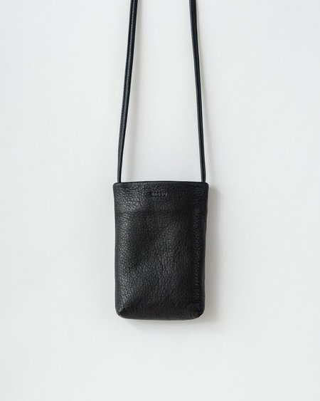 BAGGU Leather phone sling - Black