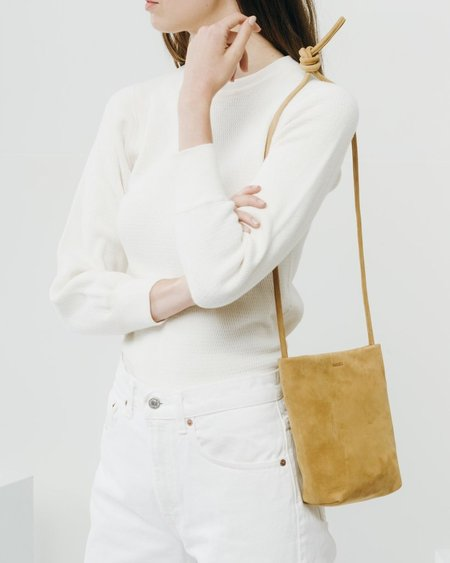 BAGGU Suede cross body purse