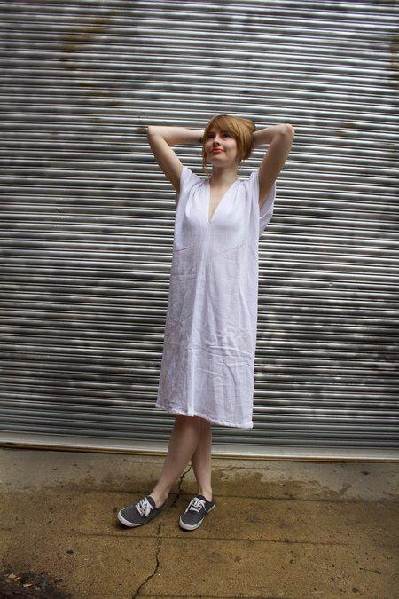 Miranda Bennett Cotton Gauze Everyday Dress - White