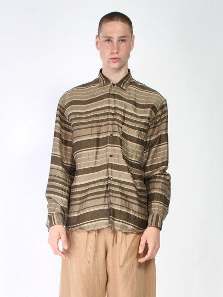 Zed Big Pocket Button Up Shirt - Stripes