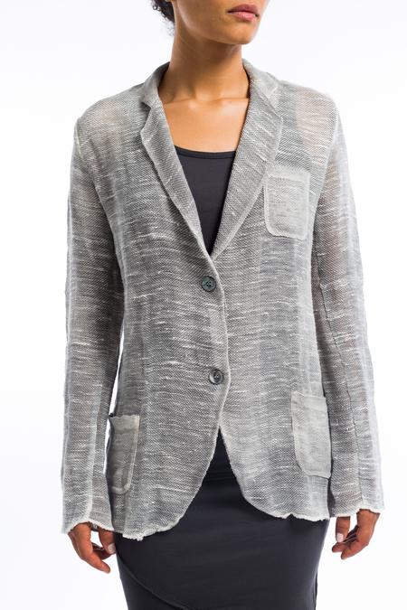 Avant Toi painted linen jacket - Delfino Gray