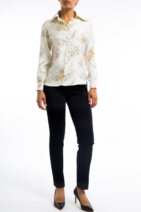 La Prestic silk button down blouse - Ivory