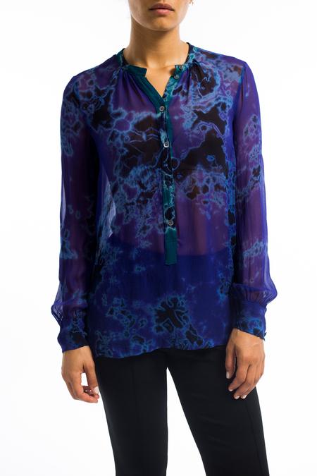 Raquel Allegra chiffon henley blouse - purple