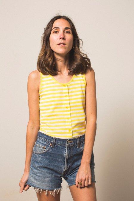 Preservation Vintage Striped Tank - Yellow