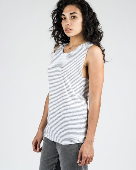 Calder Ray Knit Stripe Tank - Black Stripe