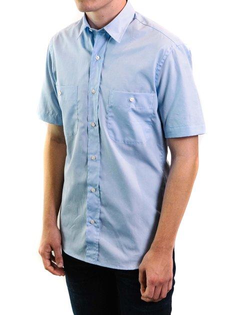 Santiago Shirt Andes Zephyr Short Sleeve Button Down Shirt - Blue