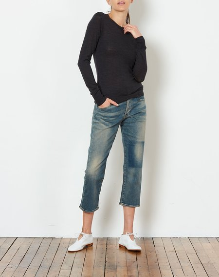 6397 Shrunken Crewneck sweater - Charcoal