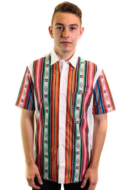 Santiago Shirt Co. Chilean Shirt - White/Blanket Stripe