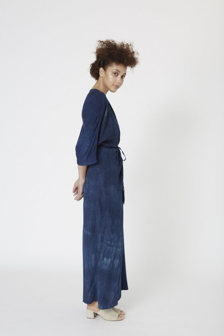 Osei-Duro Letsa Wrap Dress - Natural Indigo