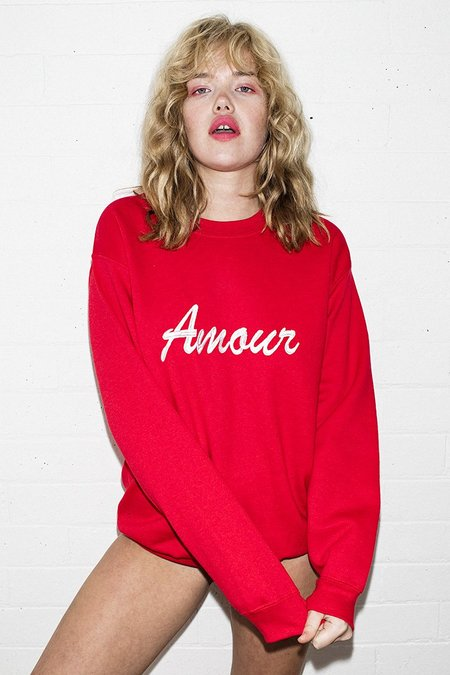 Double Trouble Gang Amour Embroidered Jumper - Red