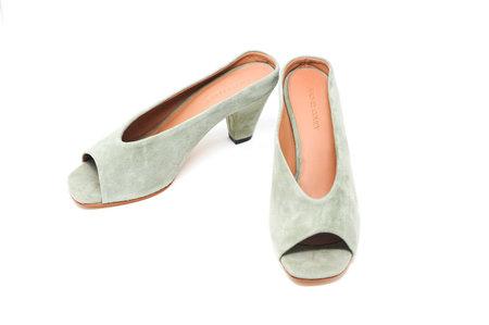 Rachel Comey Peep-Toe Suede Mule