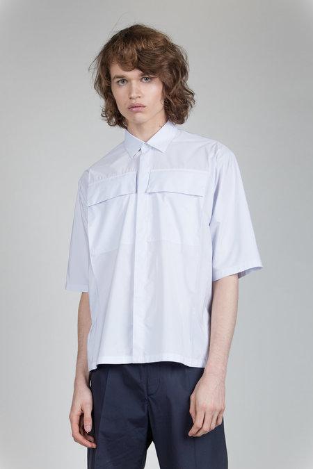 Jil Sander Flap Pocket Shirt - White stripe