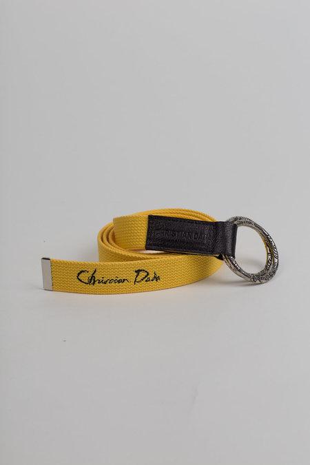 Unisex Christian Dada Military Belt - Yellow
