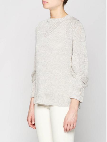 Brochu Walker Mead Draped Sleeve Pullover Sweater - Silver Grey