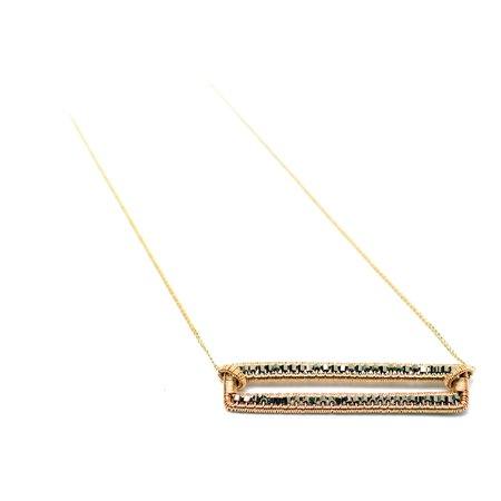 Dana Kellin Dark Silver Seed Bead Necklace
