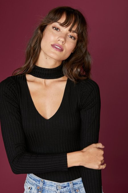 LNA Detached Turtleneck Bodysuit - Black
