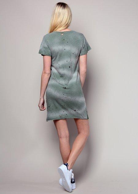 LNA Destroyed Tee Dress - Military Green Potas