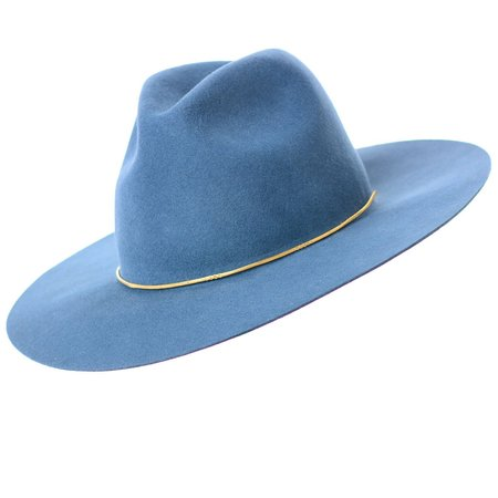 Lovely Bird Brooklyn Fedora Hat - Pacific Blue