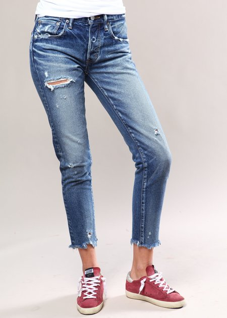 Moussy MV Kelley Tapered Jeans - Dark Blue
