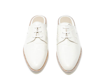 Freda Salvador Lace up Oxford Mule - white