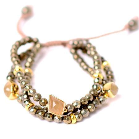 TAI Triple Strand Bracelet - Gold