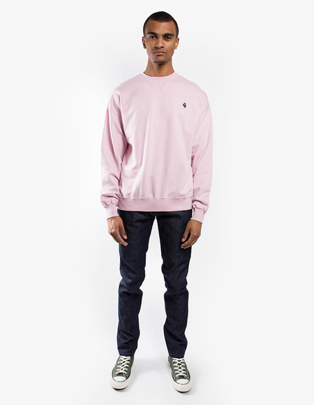 Tres Bien Merch Sweat Fleece Back - Pale Pink