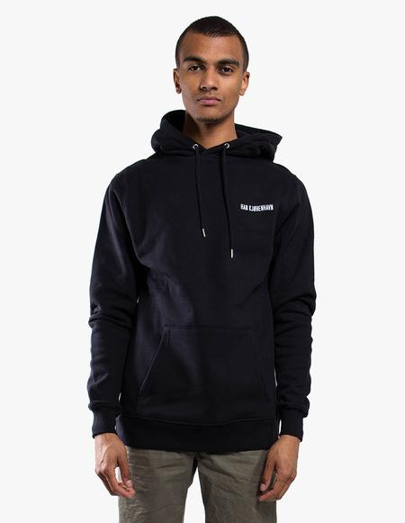 Han Kjøbenhavn Chest Logo Hoodie - black