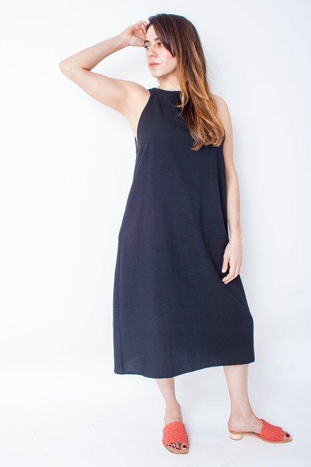 Kaarem Radial V Back Dress - Black